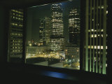 A View from a Hotel Room Looking at Skyscrapers and Offices Photographic Print by Taylor S. Kennedy