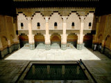 Central Courtyard from Second Floor Student's Cell at Ali Ben Youssef Medresa, Marrakesh, Morocco Photographic Print by Doug McKinlay