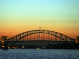 Sunset over Sydney Harbor Bridge, Australia Photographic Print by David Wall