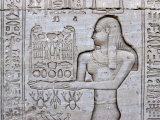 Queen Cleopatra and Stone Carved Hieroglyphics, Egypt Photographic Print by Michele Molinari