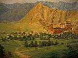 Vassi Koutsaftis - Wall Mural of Tashilumpo, Tibet Fotografická reprodukce