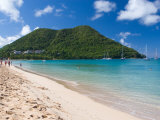View from Reduit Beach, St. Lucia, Caribbean Photographic Print by Jerry & Marcy Monkman