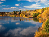 Autumn Colours, Lake Dunstan, Central Otago, New Zealand Photographic Print by David Wall