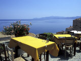 Outdoor Restaurant, Monemvasia, Greece Photographic Print by Connie Ricca