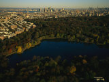 Aerial of Prospect Park with the Manhattan Skyline in the Distance Photographic Print by Melissa Farlow