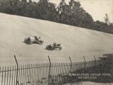 Two Racing Cars Compete Photographic Print