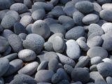 Close-up of a Pile of Smooth Rounded Gray Stones Photographic Print