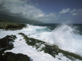 Heavy Surf Pounds a Rocky Coastline Photographic Print by Steve Winter