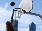Urban Basketball Action Photographic Print by Kevin Radford