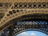 Close View Detail of the Cast Iron Eiffel Tower Lmina fotogrfica por Cotton Coulson