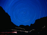 Star Trails withMountains at Night Photographic Print by Amy And Chuck Wiley/wales