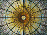 Detail of an Ornate Stained-Glass Window Photographic Print by Richard Nowitz