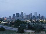 View of the Denver Skyline at Twilight Photographic Print by Richard Nowitz