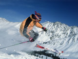 Skiing at Arapahoe Basin, CO Photographic Print by Bob Winsett