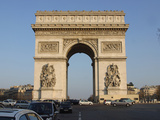 The Arc De Triomphe in Paris, France Reprodukcja zdjęcia