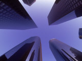 View Looking Up at Skyscrapers, Los Angeles, CA Photographic Print by Doug Mazell
