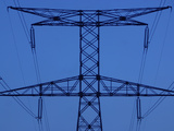 Power Line Tower Photographic Print
