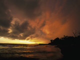 Dramatic View of the Pacific Ocean at Sunset on the Osa Peninsula Photographic Print by Steve Winter