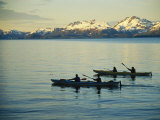 Twilight Sea Kayaking Tour on Primce William Sound Photographic Print by Kate Thompson