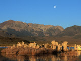 Moon Over Sierra Mountain Range, CA Photographic Print by Kyle Krause