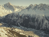 The Tourist Resort of Chamonix Sits at the Foot of the French Alps Photographic Print by Nicole Duplaix