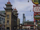 View of Chicagos Chinatown Photographic Print by Paul Damien