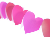 Red and Pink Paper Hearts Photographic Print