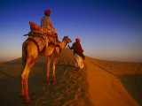 Man Atop Camel, Thar Desert, Rajasthan, India Photographic Print by Peter Adams