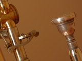 Close-up of a Brass Musical Instrument Photographic Print