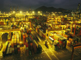 Hong Kong Cargo Terminal Photographic Print by Eightfish 