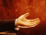 Businessman's Open Hand Photographic Print by Matthew Borkoski