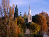 Church Steeple in Autumn Leaves, Sonora, USA Photographic Print by Rick Gerharter