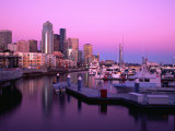 Bell Harbour Marina at Sunset, Seattle, Washington, USA Photographic Print by Richard Cummins
