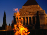 The Eternal Flame at the Shrine of Remembrance, Melbourne, Victoria, Australia Photographic Print by Dallas Stribley