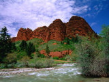 Rock formation known as the Seven Bulls in the Karakol Valley, Karakol, Kyrgyzstan Lmina fotogrfica por Anthony Plummer