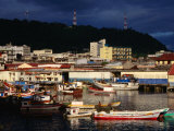 Boats on Waters of Muelle Fiscal, Seen from San Felipe, Panama City, Panama Photographic Print by Charlotte Hindle