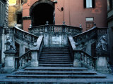 Marble Renaissance Staircase in Spoleto, Spoleto,U mbria, Italy Photographic Print by Jeffrey Becom