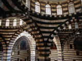 Inside Striped Domes of Khan Assad Pasha Built Between 1751-53, Old City, Damascus, Syria Fotografiskt tryck av Mark Daffey