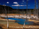 Black Sand Basin and Opalascent Pool, Yellowstone National Park, Wyoming, USA Photographic Print by Carol Polich