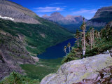 Lake Ellen Wilson and Canyon Walls, Glacier National Park, USA Photographic Print by Aaron McCoy