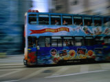 Double-Decker Tramcar, Hong Kong, China Photographic Print by John Hay