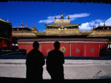 Tibetan Monks Inside Jokhang Monastery, Lhasa, China Photographic Print by Keren Su