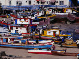 Boats Moored at Casco Viejo, the Old Colonial Quarter, Panama City, Panama Photographic Print by Alfredo Maiquez