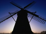A Windmill in Silhouette in Skane,Skane, Sweden Photographic Print by Anders Blomqvist