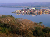 City on Island, Lago De Peten Itza, Flores, Guatemala Photographic Print by Ryan Fox