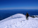 Climbers on Mt. Rainier Summit, Mt. Rainier National Park, Washington, USA Photographic Print by Cheyenne Rouse