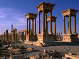 Ancient 1St-2Nd Century Tetrapylon in Palmyra, Palmyra, Hims, Syria Photographic Print by John Elk III