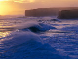 Waves Breaking off the Coast of the Port Campbell National Park, Australia Photographic Print by Rodney Hyett