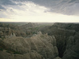 A Storm Moves over Sheep Mountain Table in Badlands National Park Fotografie-Druck von Annie Griffiths Belt