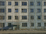 Exterior View of a Typical Depressing Communist-Built Apartment Building Photographic Print by Klaus Nigge